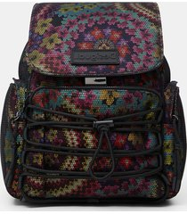 backpack mesh flowers - red - u