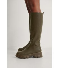 na-kd shoes boots - green