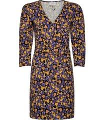 cameagz short dress ma20 jurk knielengte geel gestuz