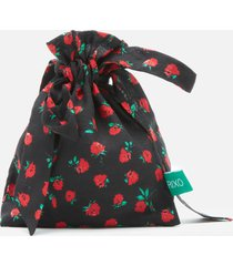 rixo women's vintage rose hope face covering & pouch - black