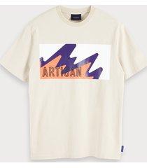 scotch & soda t-shirt met grafisch artwork