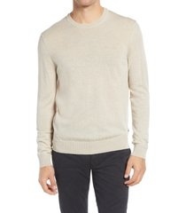 men's nn07 ted 6120 slim fit crewneck sweater, size x-large - beige