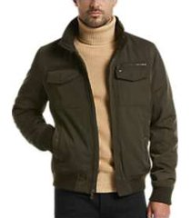 tommy hilfiger green classic performance modern fit bomber jacket