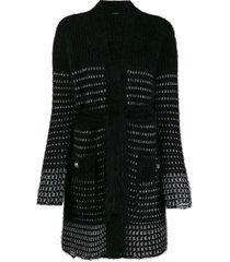 balmain long cardigan - black