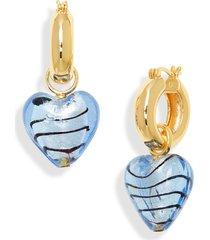 women's lizzie fortunato infatuation drop huggie hoop earrings