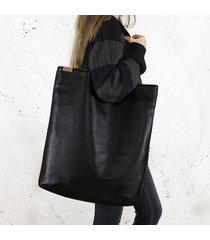 mega shopper torba czarna na zamek