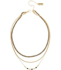 jessica simpson stone chain layered necklace