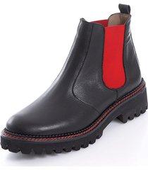 chelsea-boots alba moda svart::röd