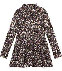 blouse, zwart-bedrukt 46