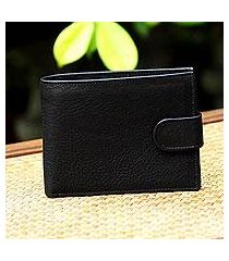leather wallet, 'everyday traveler in coal' (thailand)