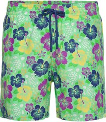 men swimwear tropical turtles zwemshorts groen vilebrequin