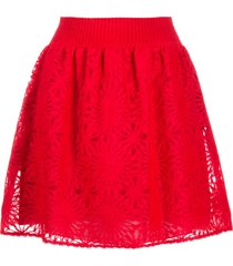 alberta ferretti layered skater skirt