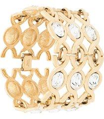 susan caplan vintage 1980's napier bracelet - gold
