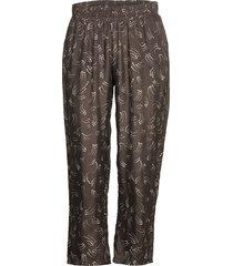 pants in dot print w. elastic waist casual byxor svart coster copenhagen