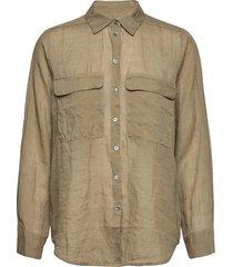 8851 - nami overhemd met lange mouwen groen sand