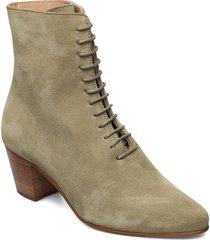 avenue suede lace up 201 shoes boots ankle boots ankle boot - heel grön royal republiq