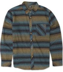 billabong men's freemont stripe flannel shirt