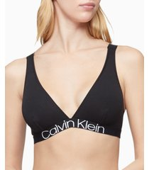 calvin klein women's reconsidered comfort unlined triangle bralette