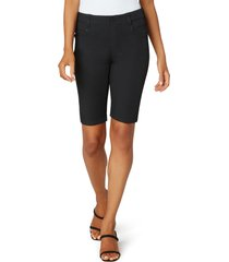 women's liverpool los angeles gia glider cruiser bermuda shorts, size 0 - black