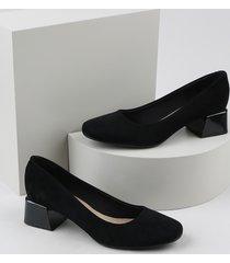 scarpin feminino beira rio conforto bico quadrado salto quadrado preto