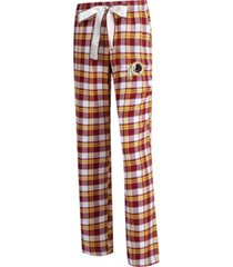 concepts sport women's washington redskins piedmont flannel pajama pants