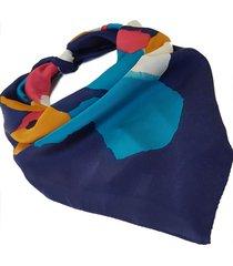 pañuelo azul nuvea historias  manchas colores ba1189-48