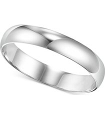 men's platinum ring, 4mm wedding band