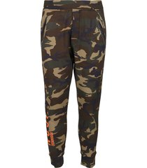 dsquared2 military green cotton joggers