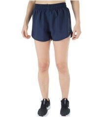shorts oxer básico run - feminino - azul escuro