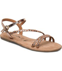 woms sandals shoes summer shoes flat sandals beige tamaris
