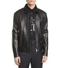 men's valentino leather jacket