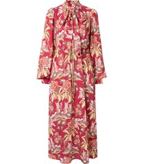 peter pilotto printed maxi dress - red