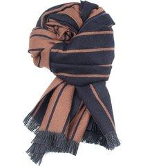 180cm 70.87 '' sciarpa lunga da uomo con collo scialle a righe in cashmere e sciarpe