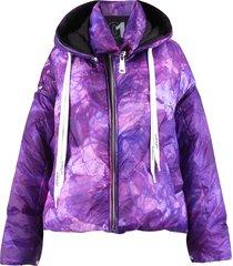 tie dye print padded jacket