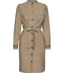 shirt dress w. belt knälång klänning brun coster copenhagen