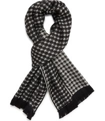 women's canali houndstooth wool scarf