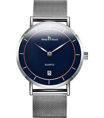classico orologio da uomo minimalista argento orologi orologi ultra sottili in acciaio inossidabile impermeabile