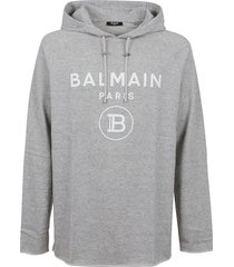 balmain rubber hoodie raw edge