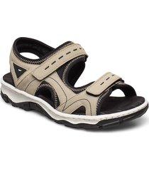 68866-90 shoes summer shoes flat sandals beige rieker