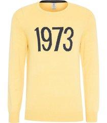 suéter masculino know - amarelo