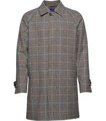 d1. the highland coat dunne lange jas grijs gant