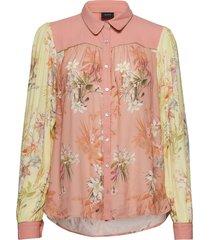 nanni blouse lange mouwen roze ravn