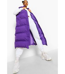 gewatteerde long line bodywarmer, purple