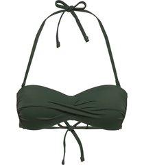 bra swim linn pisa bandeau bikinitop grön lindex