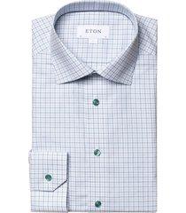 eton overhemd classic fit groen geruit