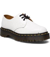 1461 bex black patent lamper snörade skor låga vit dr. martens