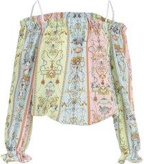 versace jeans couture elastic neck fantasy s/s shirt