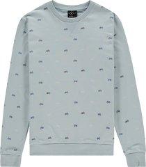 kultivate sweater 2001011002 sw cruiser 432 winter sky - blauw