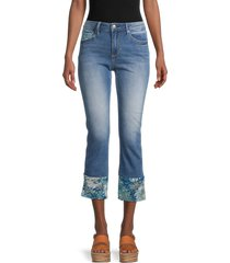 driftwood women's colette straight cropped jeans - medium wash - size 31 (10)