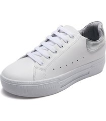 tenis blanco-plateado up&go